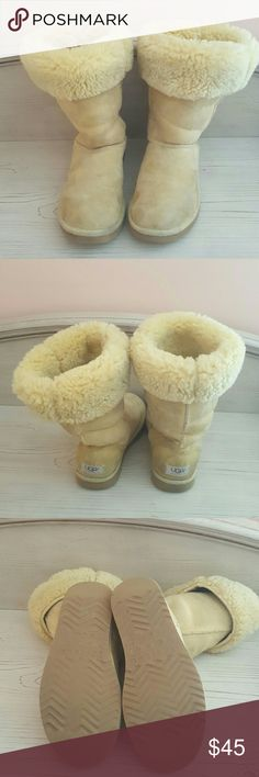 Price Drop Ugg Boots SALE ...Light yellow tall ugg boots. UGG Shoes Winter & Rain Boots