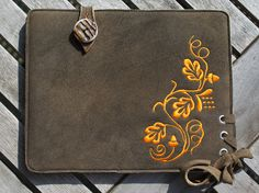 Deerskin Leather Sleeve for iPad Air | iPad Air 2 - PUMPKIN LEAF by filzstueck on Etsy https://www.etsy.com/listing/166642563/deerskin-leather-sleeve-for-ipad-air