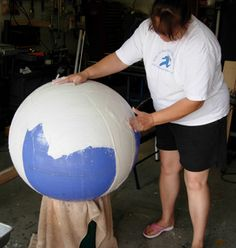Yoga Ball Sphere For Mosaic Excellent detailed photos of progression.