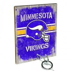 Team Toss for Minnesota Vikings fans from Team ProMark is a fun and addictive game that's easy to learn but difficult to master. Toss the ring on the eye hook and score a point. The vintage team board designs make a great addition to any fan cave or game room wall. Play individually or pair up for teams while the gang is over watching the game.