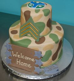 welcome home cake for my SARGEANT :)