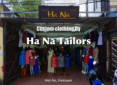 Getting custom tailored clothes in Hoi An, Vietnam.