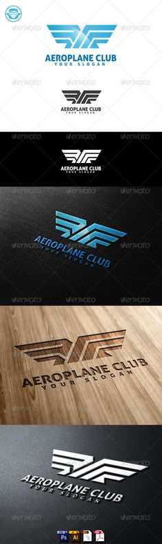 Aeroplane Club Logo Template  #GraphicRiver         Aeroplane Club Logo Template is An excellent logo template highly suitable for logo company, office, organization, studio, Production.  	 These files consists of resizable vector format files like AI, EPS , and PDF . Also PSD format for raster version alternative.  	 font used Aller     Created: 12July13