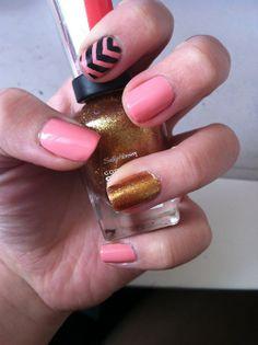 #nails #nailart #chrevron #cute #nailpolish
