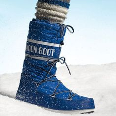 Stylish Snow Boots | The drawstring top protects you from rain and snow—and in bright blue, the '70s throwback style really pops. Moon Boot by Tecnica, $130; BackCountry.com