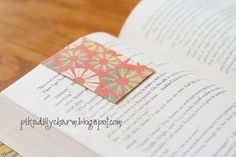 A bookmark that won't fall out! It's an diy magnet bookmark that's easy to make!