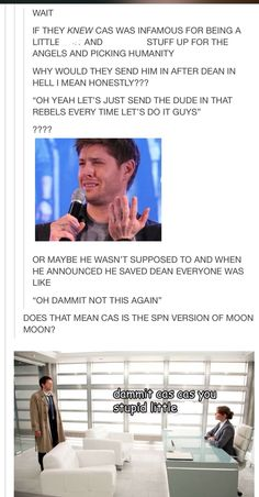 I am C R Y I N G! I lost it at 'the SPN version of moon moon'
