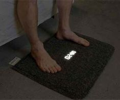 Alarm Clock Carpet: Oversleeping will become a thing of the past when waking up with the alarm clock carpet. The ingenious design forces you to physically get out of bed in order to deactivate the annoying beep while a helpful LED display informs you the time.