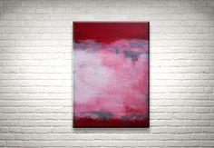 Vintage Red - Original Acrylbild von FarbenfrohGalerie auf Etsy #abstract #abstrakt #modernart #rothko #farbfeldmalerei #expressionism #expressionismus #painting #gemälde #homedecor