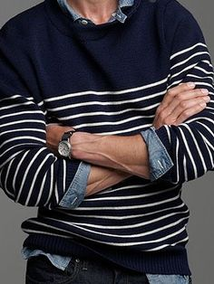 :: navy blue stripes ::