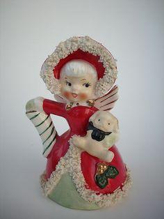 Vintage Napco Christmas Angel Girl Bell | eBay