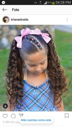 New hair styles curly kids 66 Ideas Cute Little Girl Hairstyles, Baby Girl Hairstyles, Princess Hairstyles, Braided Hairstyles, Toddler Hairstyles, Children Hairstyles Girls, Toddler Curly Hair, Long Haircuts, Hair Styles 2016