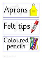 Minnow-themed classroom signs and labels pack (SB9006) - SparkleBox