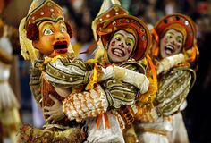 Rio de Janeiro  Performers from the Salgueiro samba school parade during Carnival celebrations Feb. 21 at the Sambadrome. The parade is a fierce competition between Rio's samba schools, who are judged in 10 categories including percussion band, samba song, theme, costumes and floats and props