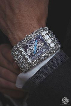 The $18,000,000 Jacob & Co 'Billionaire' Tourbillon with 260cts of baguette diamonds.