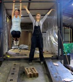 multi foil insulation going in easily mobile vintage clothes shop unusual camper van unusual interiors horse box conversion www.crystalvintag... www.crystalvintag... twitter.com/... Gloria, the Crystal vintage dressing up box, as seen on George Clarke's Amazing Spaces series 2, ep 4 channel4