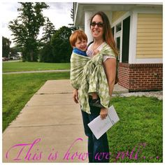 Babywearing lets us go to the bank without chasing #toddlers in busy parking lots, how about you?  Country Mouse, City Mouse - Poe Wovens