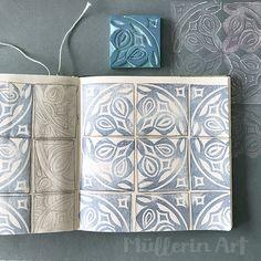 Müllerin Art: Quadrature of the circle (sample Wednesday Stamp Carving, Art Folder, Linoprint, Tampons, Linocut Prints, Woodblock Print, Fabric Painting, Textile Prints, Printmaking