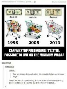Andrew Jackson is coming for us all. Also inflation, not minimum wage, is the problem!