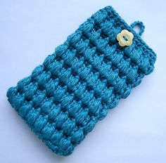 Crochet+Cell+Phone+Pouch | and double crochet the next round were front post single crochet ...