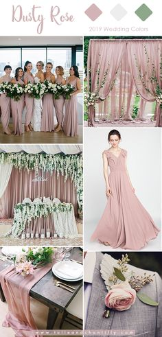 romantic dusty rose, ivory and grey wedding color ideas for 2019 . romantic dusty rose, ivory and grey wedding color ideas for 2019 Gray Wedding Colors, Dusty Rose Wedding, Wedding Color Schemes, Grey Wedding Theme, Beach Wedding Colour Scheme, Purple Wedding, Wedding Colour Palettes, Color Palettes, Wedding Hair
