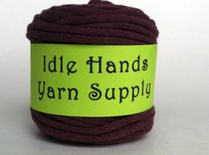Purple Grey T Shirt Yarn or Tarn Upcycled  by IdleHandsYarnSupply, $5.99