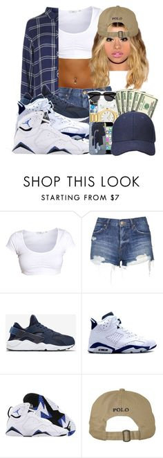 """""""COULD'NT CHOOSE ON DA SHOES"""" by tanyabanks-101 ❤ liked on Polyvore featuring Topshop, NIKE and Retrò"""