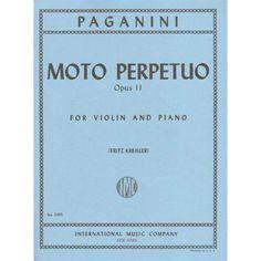 Paganini, Niccolò - Moto Perpetuo (Perpetual Motion), Op 11 - Violin and Piano - International Music Company