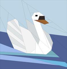 Swan swimming | Craftsy