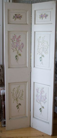 Hand painted Wood doors-hand painted wood doors, shabby chic