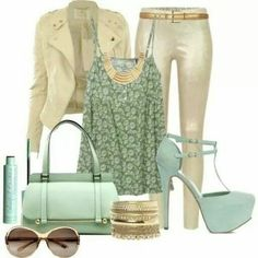 a might more summer outfit than a winter outfit, but I love the silver sheen to the mint