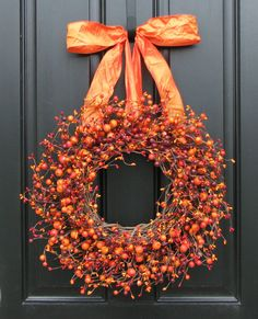 Fall Wreath   Harvested Berries  Autumn by twoinspireyou on Etsy