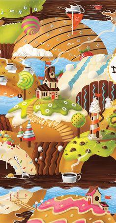 Donut's Club by CODE501 - CREATIVE BAND !, via Behance