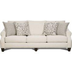 "Lavish 94"" Cream Upholstered sofa"