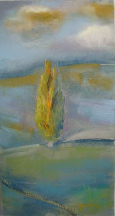 Early morning Marie-France Oosterhof pastel 50x35 cm