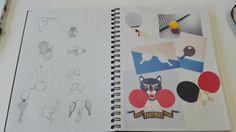 Schetsen + onderzoek iconen pingpong