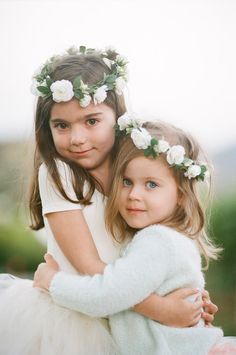 Adorable flower girls- Halo is a must! Flower Girls, Flower Girl Dresses, Flower Crowns, Flower Girl Halo, Flower Girl Headpiece, Flower Children, Flower Headbands, Flower Hats, Flower Power