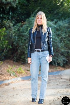 girlfriend knows what's what with all things denim. #NatalieHartley in Paris.
