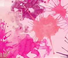 pink watercolor fabric by suziedesign on Spoonflower - custom fabric