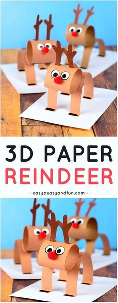 Paper Reindeer - Christmas Craft Idea with Template Construction Paper Reindeer Craft for Kids. A super fun Christmas craft idea for kids to Construction Paper Reindeer Craft for Kids. A super fun Christmas craft idea for kids to make. Christmas Activities For Kids, Preschool Christmas, Craft Activities, Kids Christmas, Reindeer Christmas, Christmas Trees, Childrens Christmas Crafts, Christmas Island, Funny Christmas