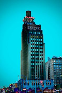 Standard Life Building, downtown Jackson Mississippi. This is a beautiful building.