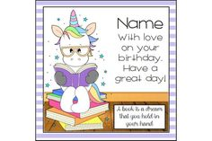 Book lover unicorn birthday card, birthday greetings, personalised card, reading unicorn, bookworm b Unicorn Birthday Cards, Kids Cards, It's Your Birthday, Book Lovers, My Etsy Shop, Family Guy, Comics, Handmade Gifts, Fictional Characters
