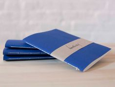 Small Blue Softcover Notebook  Sketchbook by knotbooks on Etsy