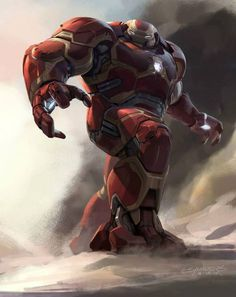 Avengers: Age of Ultron concept art - Hulk Buster by Phil Saunders
