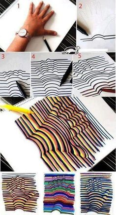Fun optical illusion, super easy... great for kids!