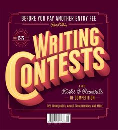 Poets & Writers Magazine Cover by Jordan Metcalf, via Behance