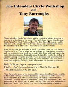 Meet Tony Burroughs - Sept 16 - Rockford, IL - Cleo's Aromapothecary, at 7.00 pm