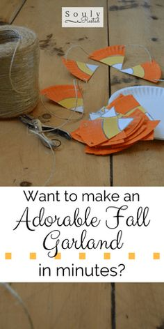 The cutest fall garland (and simple photo booth) in minutes! » SoulyRested