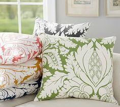 Damask Print Pillow Cover #potterybarn $23