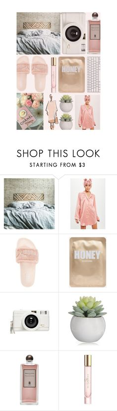 """""""101 - CALIFORNIA LAZY DAYS"""" by oliviasmiith ❤ liked on Polyvore featuring Missguided, Puma, Lomography, Serge Lutens and Burberry"""